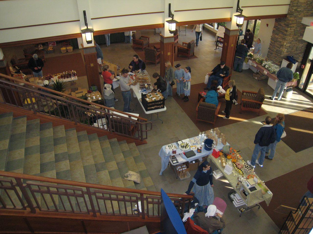 Sweetwater Winter Market inside Lobby
